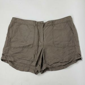 ANN TAYLOR LOFT Gray Linen Blend Shorts Size 12